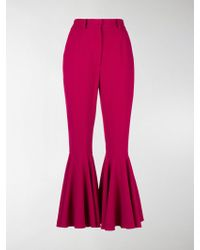 Dolce & Gabbana Flared cuffs trousers - Pink