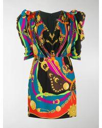 Versace Barocco Rodeo Print Mini Dress - Black