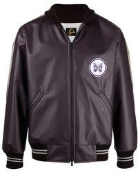 Needles Logo-patch Bomber Jacket - Purple