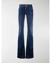 DSquared² Mid-rise Bootcut Jeans - Blue