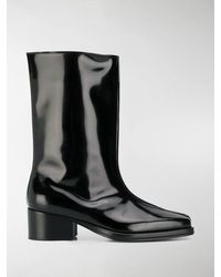 Y. Project Low Tubular Boots - Black