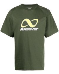 Rassvet (PACCBET) Graphic-print Cotton T-shirt - Green