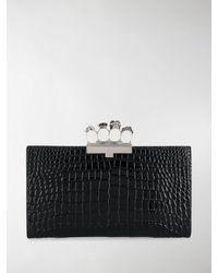 Alexander McQueen Clutch con anelli - Nero
