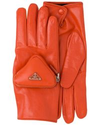 Prada Handschuhe mit Tasche - Orange