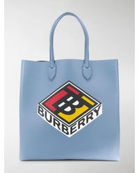 Burberry Borsa tote Kane - Blu