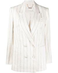 Zimmermann Lovestruck Pinstripe Blazer - White