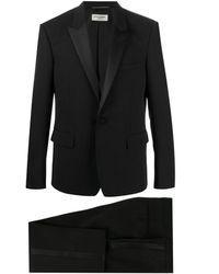 Saint Laurent Smoking-Jacke mit Seidenbesatz - Schwarz