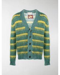 Marni Horizontal-stripe Cardigan - Green