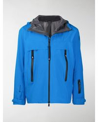 3 MONCLER GRENOBLE Multi-zip Pocket Windbreaker Jacket - Blue