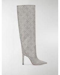 Jimmy Choo Women's Mavis 100 Pointed - Toe High - Heel Boots - Metallic