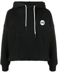 Honey Fucking Dijon Logo-print Hoodie - Black
