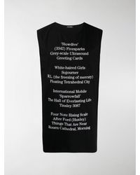 Raf Simons Trägershirt mit Schriftzug - Schwarz