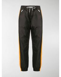 KENZO Side-stripe Track Trousers - Black