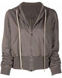 Rick Owens DRKSHDW Cropped Zip-up Hoodie - Gray