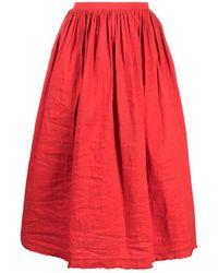 Uma Wang Gathered Detail Full Shape Skirt