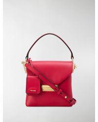 Prada Mini-Tasche mit Henkel - Rot