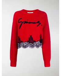 Givenchy Logo Knit Sweater - Red