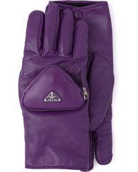 Prada Kurze Handschuhe - Lila