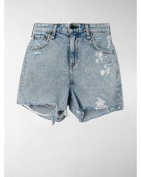 Rag & Bone Dre Distressed Denim Shorts - Blue
