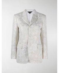 Comme des Garçons - Floral Patterned Buttoned Blazer - Lyst