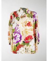 Dolce & Gabbana Silk Loose Fit Floral Shirt - Multicolor