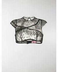 Agent Provocateur Kenzie Crystal-embellished Bra-top - Black