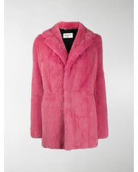 Saint Laurent Mink Fur Coat - Pink