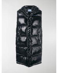 Prada Long Puffer Vest - Black