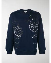 KENZO - Tiger Embroidered Sweatshirt - Lyst
