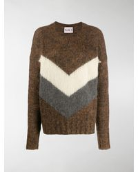Plan C Mohair And Wool-blend Jumper - Multicolour