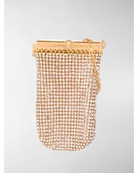 Versace Gold-tone Crystal Pouch Bag - Multicolour