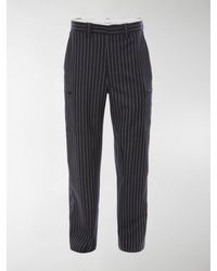 JW Anderson Pinstripe Straight Pants - Blue