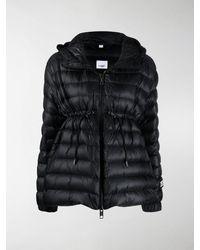 Burberry Lightweight Hooded Puffer Jacket - Black