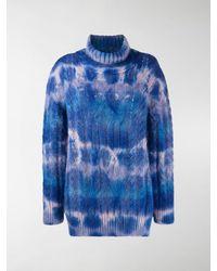 3 MONCLER GRENOBLE Cable Knit Jumper - Blue
