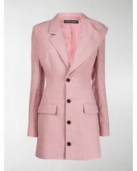 Y. Project Asymmetric Longline Blazer - Pink