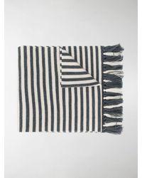 Dries Van Noten Long Striped Scarf - White