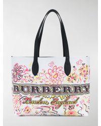 Burberry - 4065914white/black - Lyst