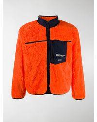 Ambush Logo-print Fleece Jacket - Orange