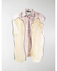 Y. Project Contrast Sleeveless Blouse - Pink