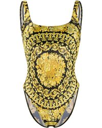 Versace Costume intero Barocco con stampa - Nero