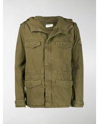 Saint Laurent Military-style Parka Coat - Green
