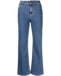 Rodebjer High-rise Flared Jeans - Blue