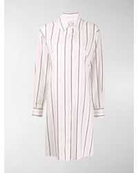 Maison Margiela Pinstripe Dress - White