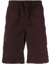 Needles Shorts sportivi con coulisse - Marrone