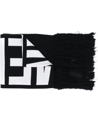 Vetements Knitted Logo Scarf - White