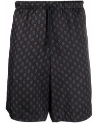 Dries Van Noten Print Drawstring-waist Short - Black