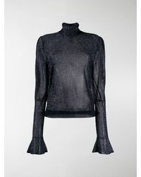 Chloé Metallic Sheer Blouse - Blue