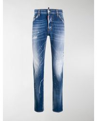 DSquared² Distressed Slim-fit Jeans - Blue