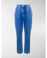 Balmain Acid Wash Boyfriend Jeans - Blue