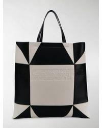 CALVIN KLEIN 205W39NYC Geometric-pattern Tote Bag - Black